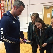 Students meet Olympic Gymnast